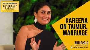 #HTLS2019: Kareena Kapoor Khan on Taimur's 'stardom'; career after marriage [Video]