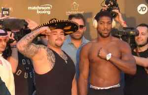 Champion Ruiz weighs in three stones heavier than Joshua [Video]