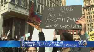 Students Rally In Philadelphia To Push For Action Concerning Climate Change [Video]