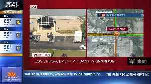 Large law enforcement presence responding to situation at Brandon bank [Video]