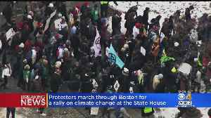Climate Change Protesters Rally For Action At State House [Video]