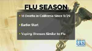 California Sees 18 Flu-Related Deaths Since September [Video]