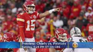 Chiefs-Patriots Previews: Pats Defense Looks To Contain Patrick Mahomes [Video]