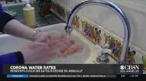 Corona May Raise Water Rates 5% Annually [Video]