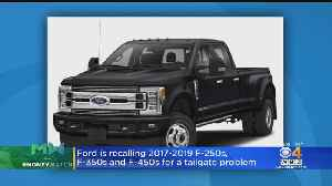 Ford Recalls Big Pickups Due To Tailgates Opening Unexpectedly [Video]