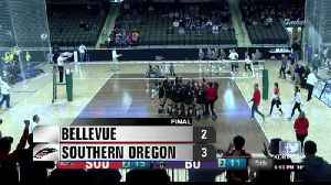 Southern Oregon Volleyball earns another NAIA Tournament win [Video]