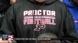 Utica Proctor Football team honored at Wednesday's Common Council Meeting [Video]