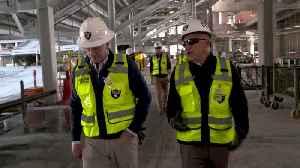 NFL Commissioner Roger Goodell tours stadium [Video]