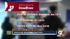 Be ready for these holiday shipping deadlines [Video]