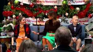 News video: First lady shares holiday story at Children's National Hospital
