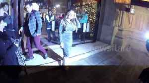 News video: Kelly Brook and other celebs head to Emma Bunton's Xmas bash