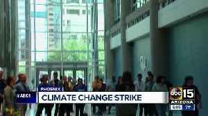 Climate change strike held in downtown Phoenix [Video]