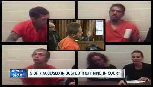 5 members of alleged theft ring that targeted multiple cities arraigned in court [Video]