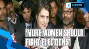 'Urge women to fight elections, take leadership from men': Priyanka Gandhi [Video]