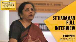 #HTLS 2019: Finance Minister Nirmala Sitharaman on slowdown, GST & 2020 budget [Video]