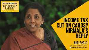 #HTLS2019: Watch FM Nirmala's response on whether govt will cut income tax [Video]