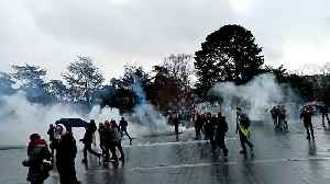 French police fire tear gas as thousands protest again in western city of Nantes [Video]