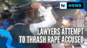 Watch: Lawyers attempt to thrash rape accused at Indore court [Video]