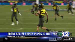 Medford native Brady Breeze shines in Oregon's Pac-12 Championship victory [Video]