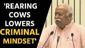 RSS chief Mohan Bhagwat says rearing cows lowers criminal mindset | OneInida News [Video]
