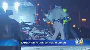 Driver Dies After Crashing Lamborghini Into Guardrail On President George Bush Turnpike [Video]