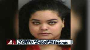 Teacher's aide in Collier County accused of having sex with students [Video]
