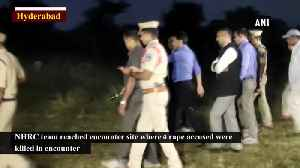 News video: NHRC team reaches Telangana encounter site for investigation