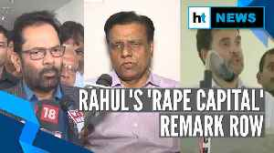 Insensitive comments hurt India: NDA minister on Rahul's 'rape capital' claim [Video]