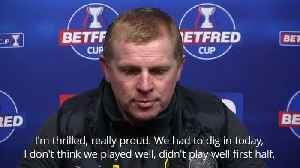 Managers react after Celtic clinch Betfred Cup final [Video]