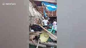 Damage from typhoon Kammuri in the Philippines [Video]