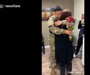 US Army soldier surprises his mom after being away for six months [Video]