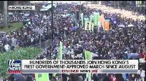 News video: Thousands In Hong Kong Show Unity To Mark The Six Month Anniversary Of Protests
