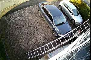 Storm Atiyah blows ladder onto man's head and car while he puts up Christmas lights in Worcestershire [Video]