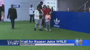 Late Rapper Juice Wrld Mourned At Candlelight Vigil In LA [Video]
