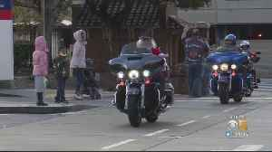 Santa Rides In On Harley To Deliver Toys To Kids At SF General Hospital [Video]