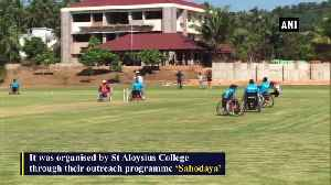One-day wheelchair cricket match organised in Mangaluru [Video]