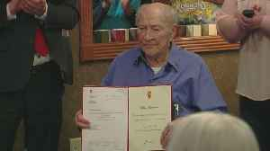 Twin Cities WWII Vet Wilton Rasmusson Honored By Norway [Video]