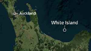 Locator map of volcano eruption on New Zealand island [Video]