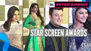 Bollywood celebs add glam; Ranveer, Alia win big at Star Screen Awards [Video]