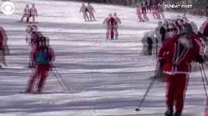 WEB EXTRA: Santas Hit The Ski Slopes [Video]