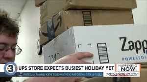 The UPS Store staff say 750 million packages to be sent through UPS alone this holiday season [Video]