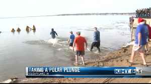 Polar Bear Dip in Clear Lake [Video]