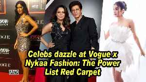 News video: Srk, Katrina and Jahnvi other celebs dazzle at Vogue x Nykaa Fashion: The Power List Red Carpet
