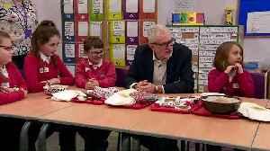 Jeremy Corbyn visits a primary school in Heysham [Video]