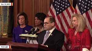 Watch: House Democrats Announce Two Articles Of Impeachment Against Trump [Video]