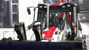 Boris Johnson drives JCB through 'wall' [Video]