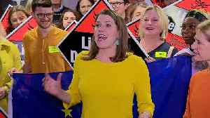 Jo Swinson greets Lib Dem supporters in Bath [Video]