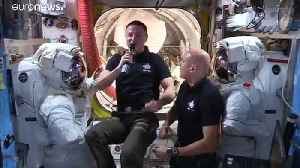 Astronaut Luca Parmitano talks water recycling in space [Video]