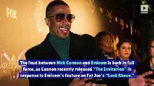 Nick Cannon Fires Back at Eminem in Ongoing Diss Track Battle [Video]