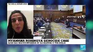 Myanmar Rohingya genocide case : Aung San Suu Kyi at ICJ hearing in the Hague [Video]